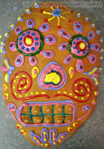 Pan de Muerto Skull Finished