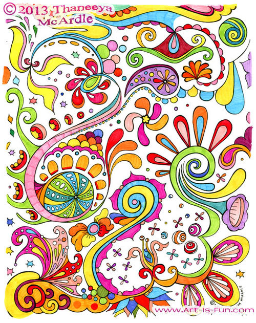 Free Adult Coloring Page Example
