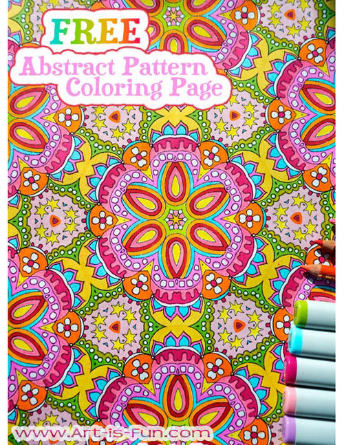 free adult coloring page example by thaneeya - Coloring Pattern Pages