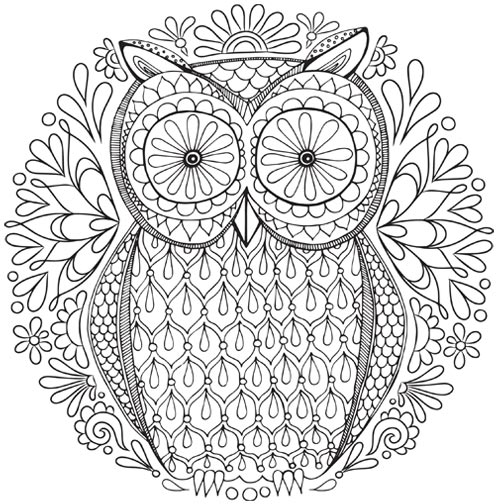 free owl nature mandala coloring page - Coloring Pages Art