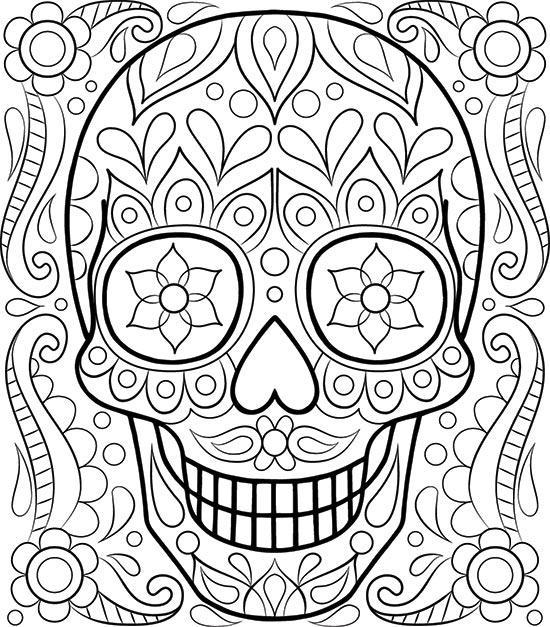 sugar skull coloring pages thaneeya - photo#3