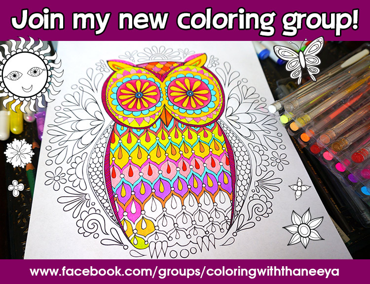 Join Thaneeya's Coloring Group on Facebook!