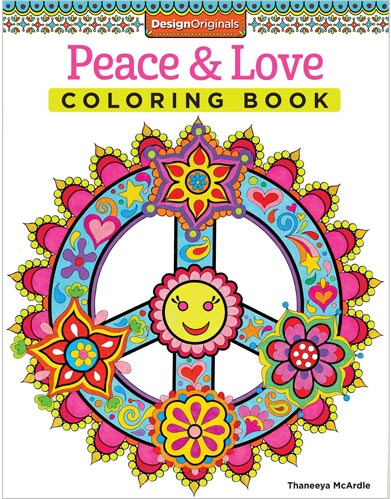 coloring pages peace love - photo#35
