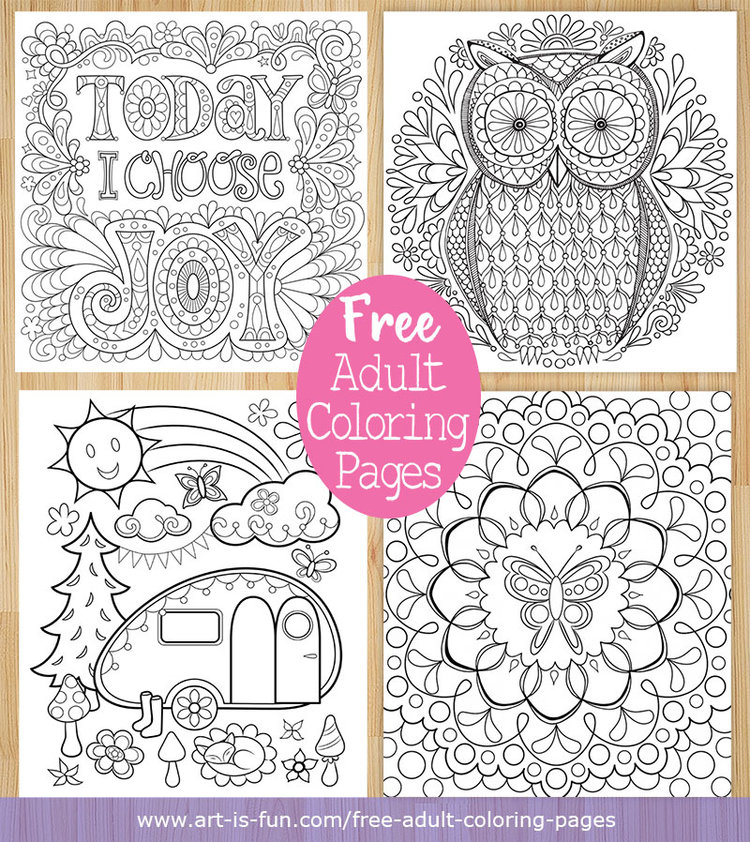 coloring pages to print for adults Free Adult Coloring Pages: Detailed Printable Coloring Pages for  coloring pages to print for adults