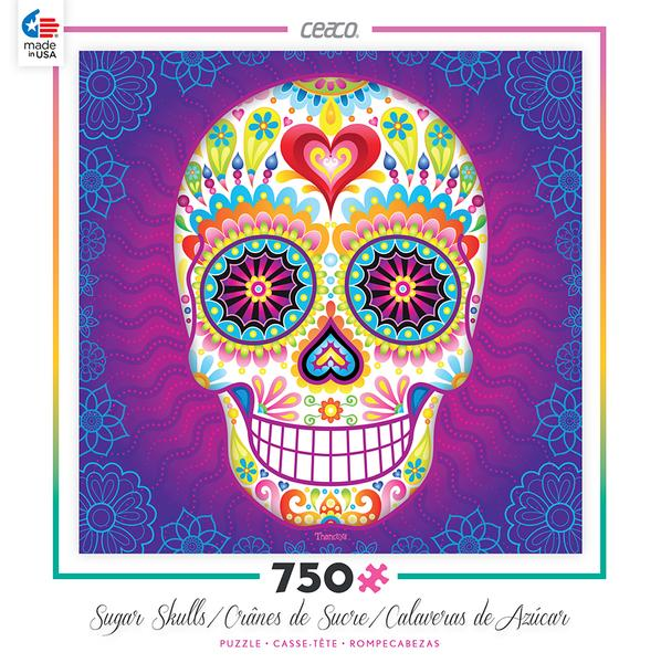 Sugar Skull Jigsaw Puzzle by Thaneeya McArdle