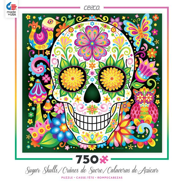 Jardin Sugar Skull Jigsaw Puzzle by Thaneeya McArdle