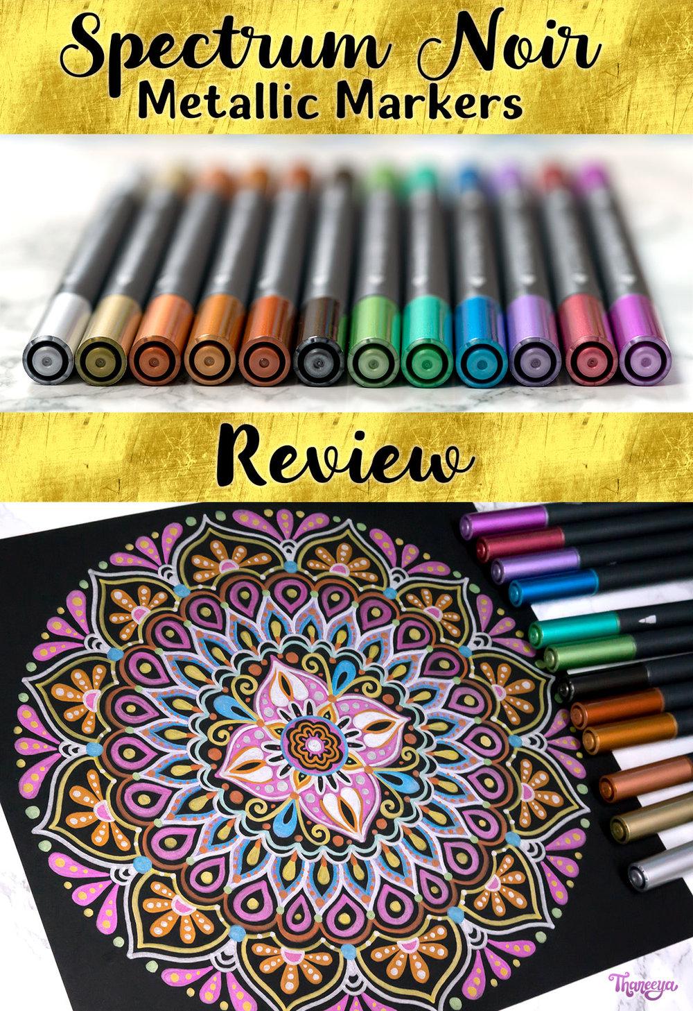 Spectrum Noir Metallic Markers Review on Art-is-Fun.com