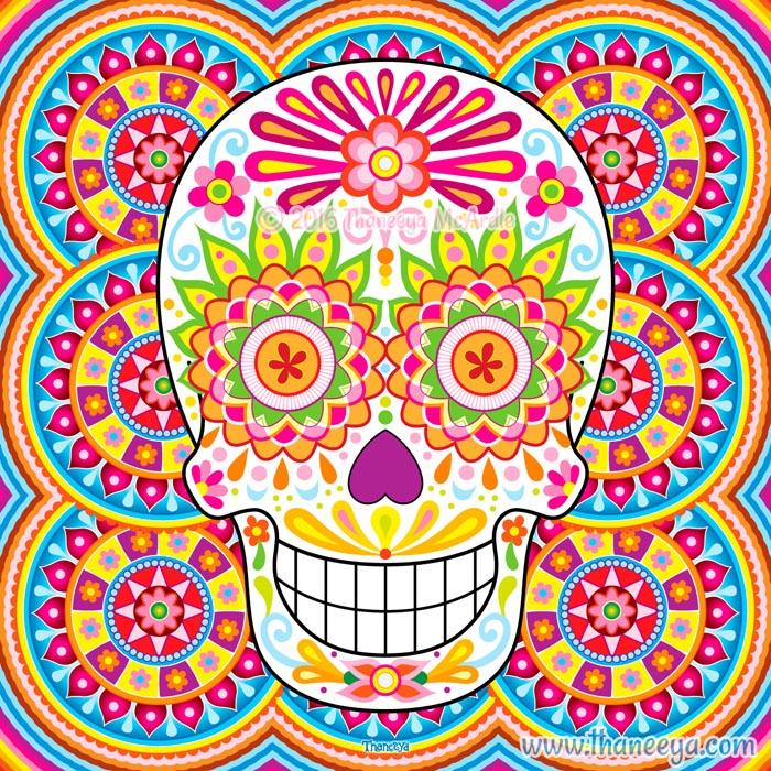 Polychromasia Sugar Skull by Thaneeya McArdle