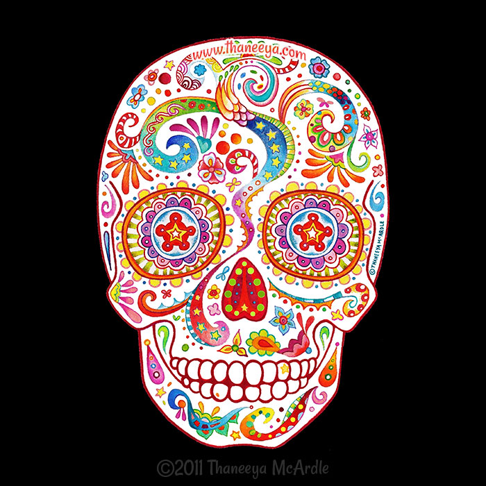 Psychedelic Sugar Skull 2011 by Thaneeya