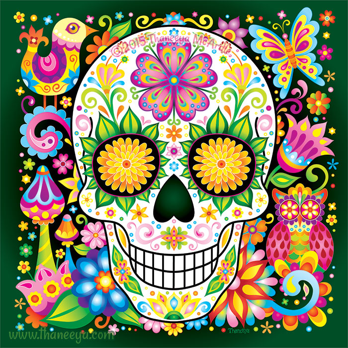 Nature Sugar Skull by Thaneeya McArdle
