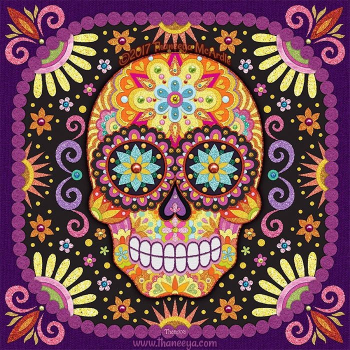 Viva Sugar Skull Art by Thaneeya McArdle
