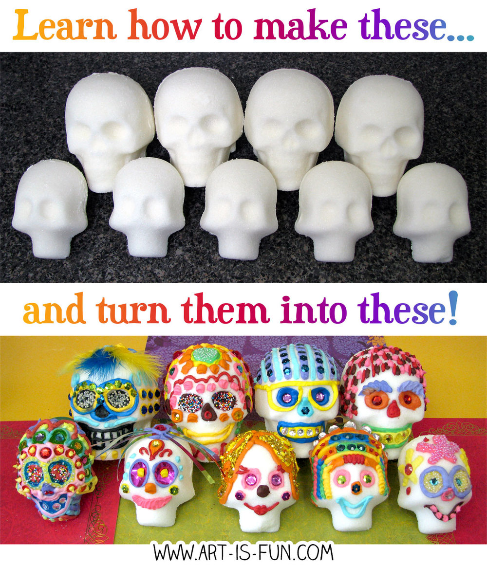 Learn how to make sugar skulls in this easy step-by-step demo!