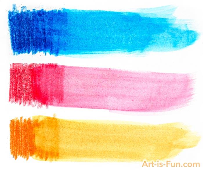 水彩铅笔洗例子