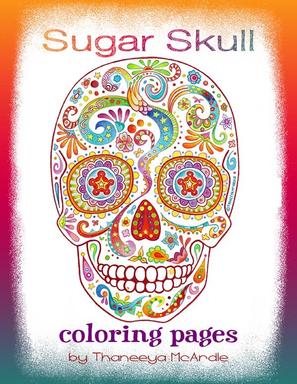 Sugar Skull Coloring Pages - Detailed Day of the Dead Coloring Pages by  Thaneeya McArdle — Art is Fun