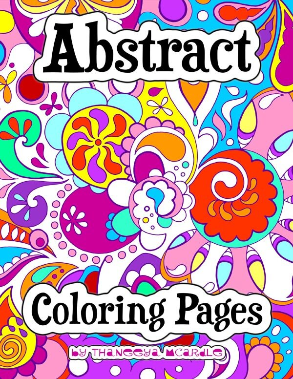 Abstract Coloring Pages Art is
