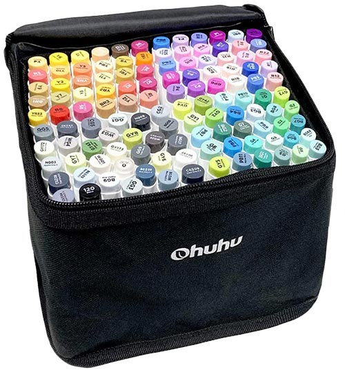 Ohuhu标记120种颜色