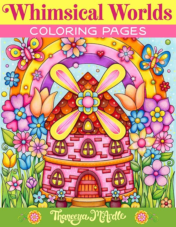 Whimsical Worlds Coloring Pages - Set Of 10 Printable Coloring Pages For  Adults And Teens — Art Is Fun