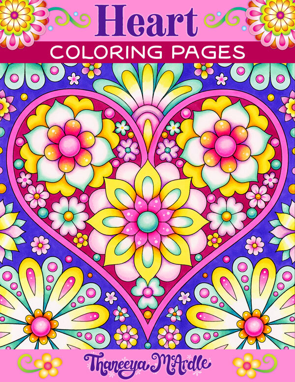 Heart Coloring Pages - Set Of 10 Printable Coloring Pages By Thaneeya  McArdle — Art Is Fun