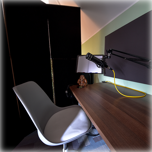 A relaxed, acoustically treated environment provides the ideal place to record your voiceover and dialogue project.