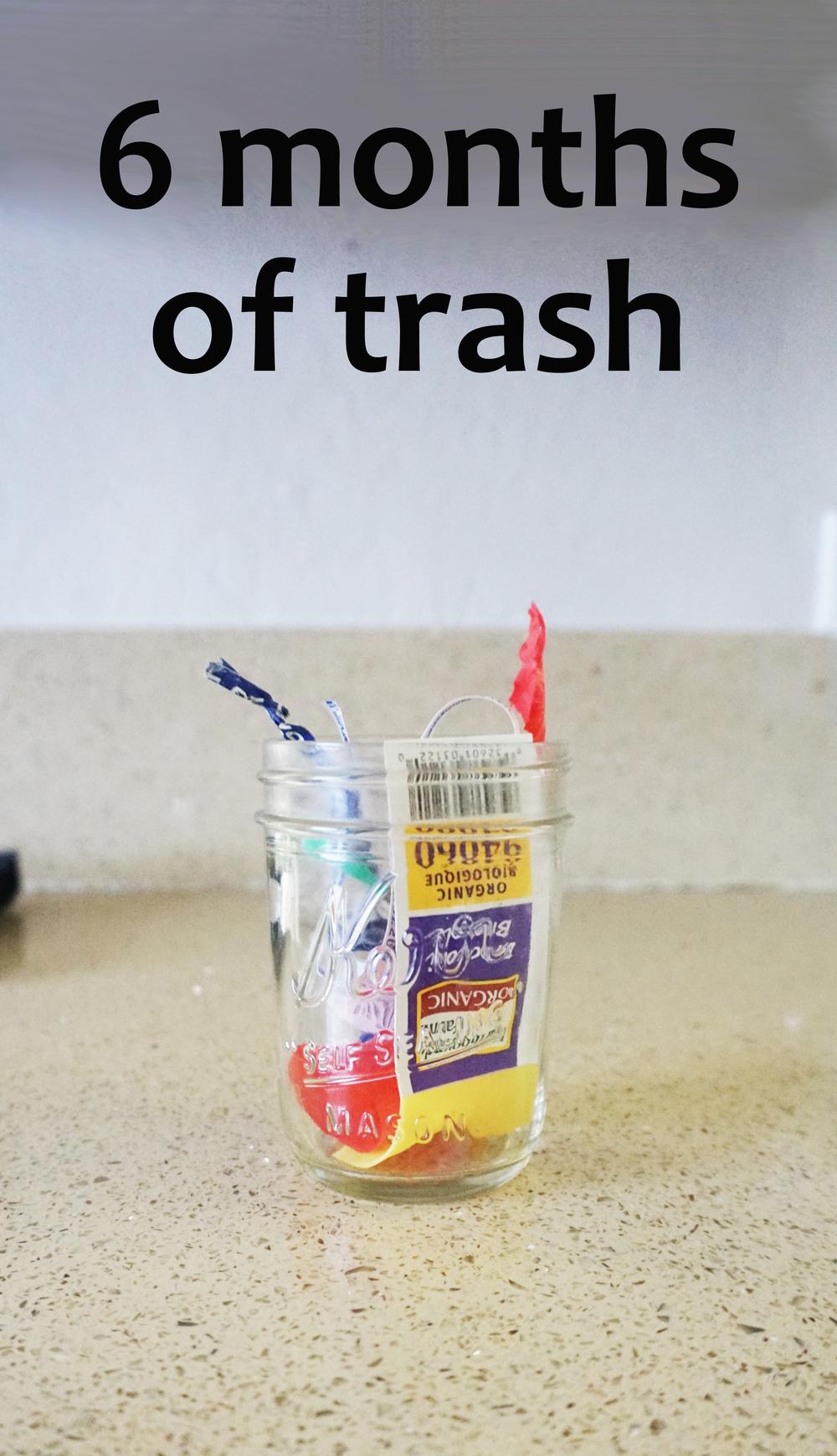 www.goingzerowaste.com 6 months of trash