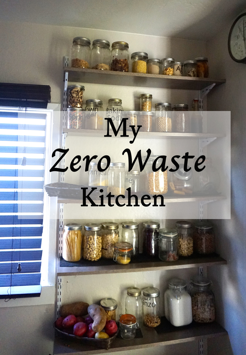 My Zero Waste Kitchen. Open Shelving. www.goingzerowaste.com