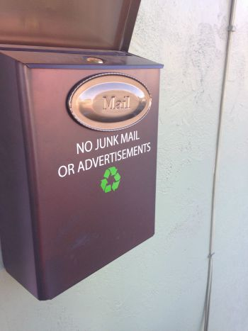 Ditch Junk Mail! It's the easiest zero waste step to take. www.goingzerowaste.com