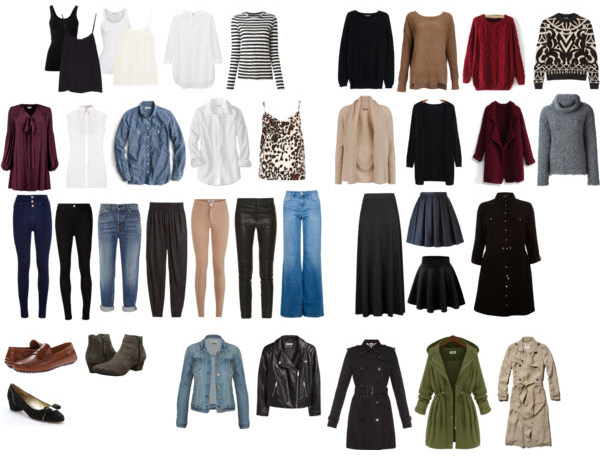 Fall and Winter Capsule Wardrobe from three easy steps to clean out your closet and define your style from www.goingzerowaste.com