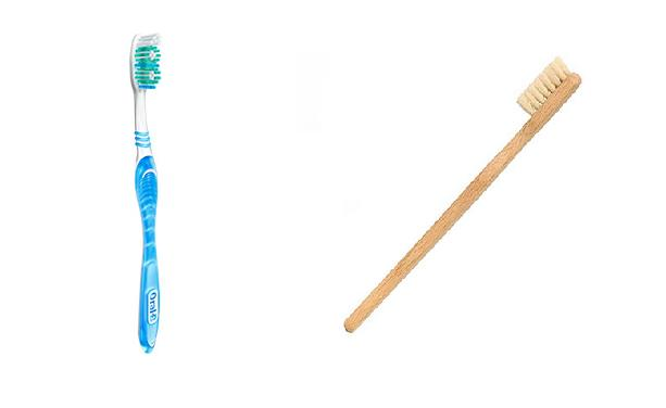 Zero Waste Swap 8: Change your toothbrush! Bamboo is not only prettier, but you can compost it! www.goingzerowaste.com