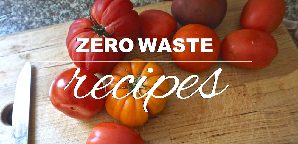 Zero waste recipes focusing on fresh, seasonal produce, and food commonly found in bulk bins from www.goingzerowaste.com