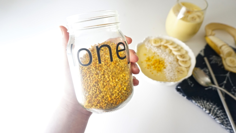 Yes, my bee pollen is in my honey jar. Oops.