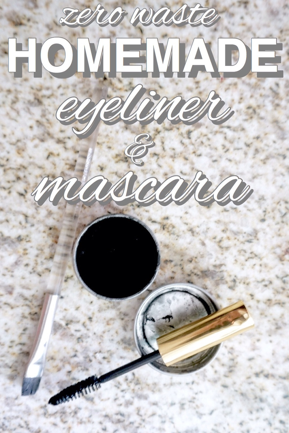Easy homemade, zero waste eyeliner from www.goingzerowaste.com