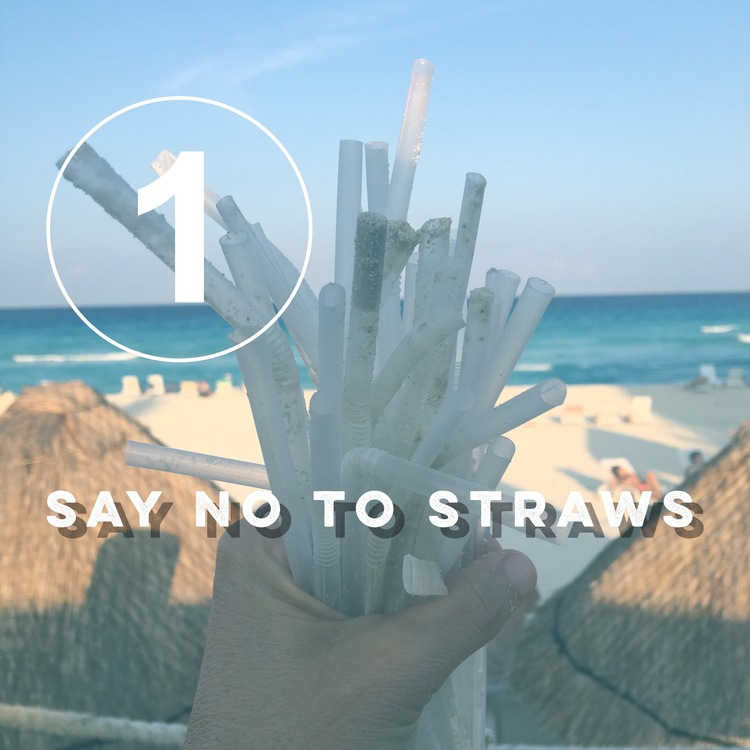 Day one of the zero waste challenge: Say No to Straws! from www.goingzerowaste.com and bezero.org