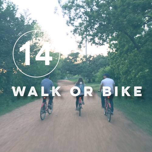 Day 14 of the zero waste challenge! Grab a bike or walk instead of driving.