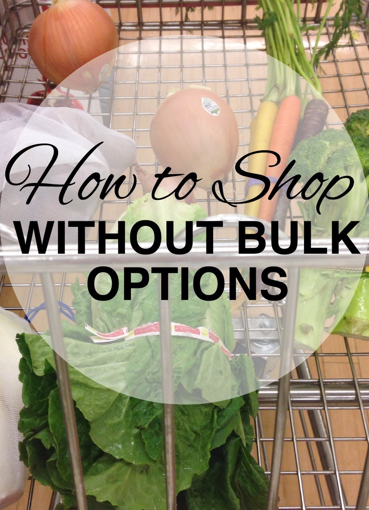 How to shop as close to zero waste as possible when you don't have access to bulk bins with www.goingzerowaste.com