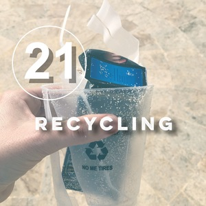Day 21 of the zero waste challenge! Recycling is not the answer. Learn more about what recycling really means and how to do less of it. with bezero.org and goingzerowaste.com