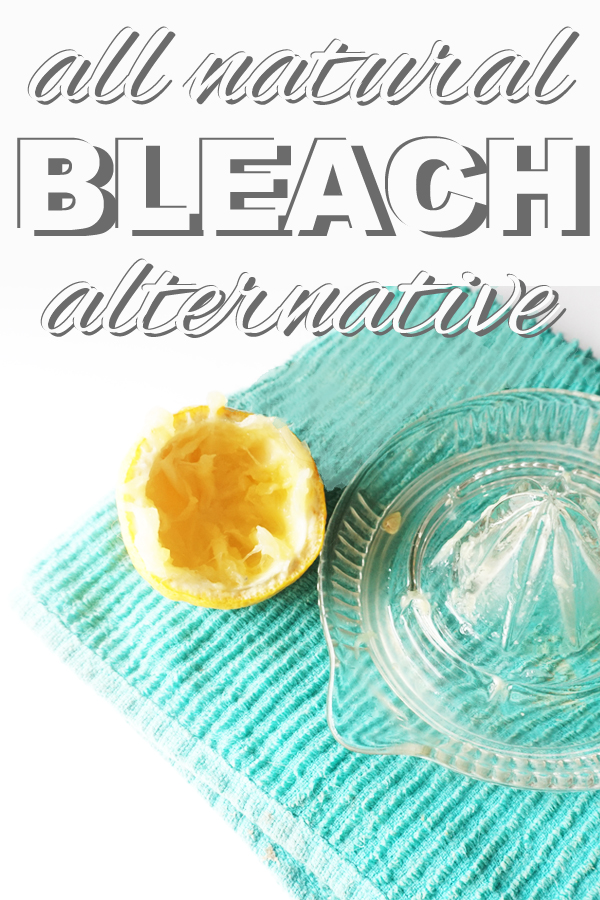 An all natural, safe, effective alternative to cholorine bleach from www.goingzerowaste.com
