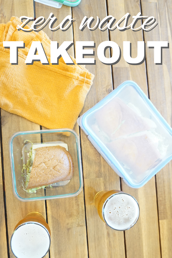 Get takeout without creating any waste or trash! It's easy to be eco friendly. Check out my tips for zero waste takeout from www.goingzerowaste.com, with a youtube video!