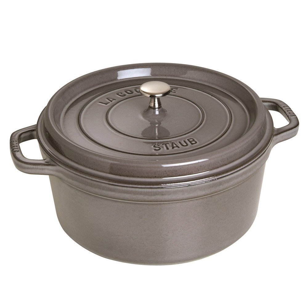 I have a second hand Le Creuset but my heart belongs to Staub. Both are great options made in France. There are a lot of options on craigslist and eBay.