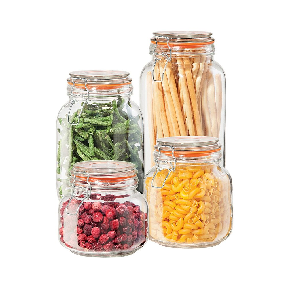 I love these clamp jar for  stocking a pantry.  They keep everything air tight, plus they just look really pretty. I have a whole bunch of these.