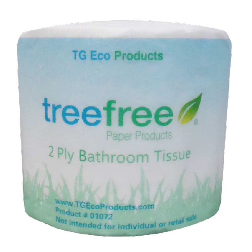 Tree free toilet paper! We have managed to cut most of our toilet paper usage down with a bidet. This toilet paper uses bamboo which is a very renewable resource.