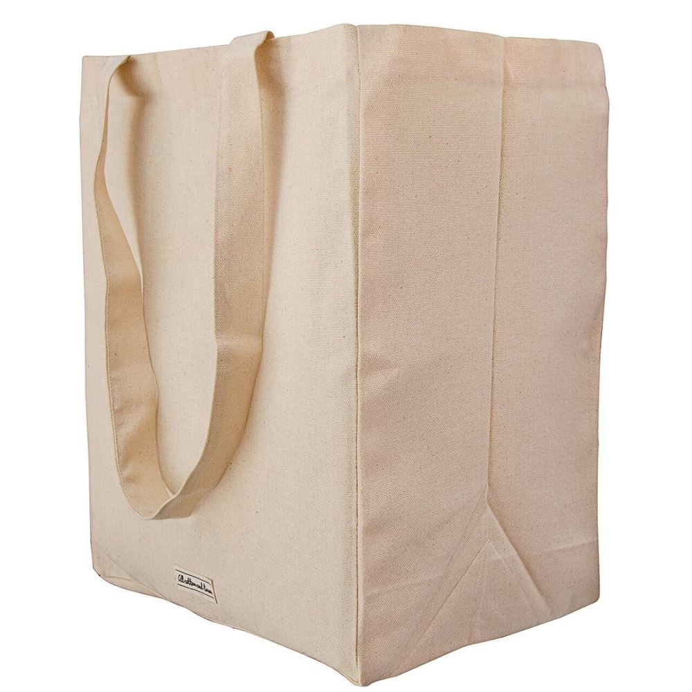 An organic cotton reusable tote, or what I like to call the gateway to a hippie lifestyle. I like these because they're super sturdy, but there are a ton of options. You probably have a lot in your house you can use right away.