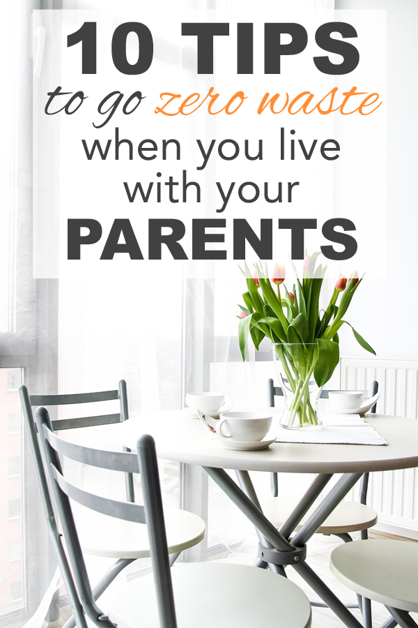 10 Tips To Go Zero Waste When You Live With Your Parents Going