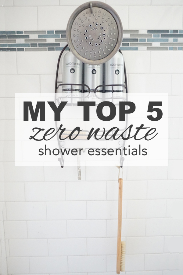My top five zero waste shower essentials from www.goingzerowaste.com