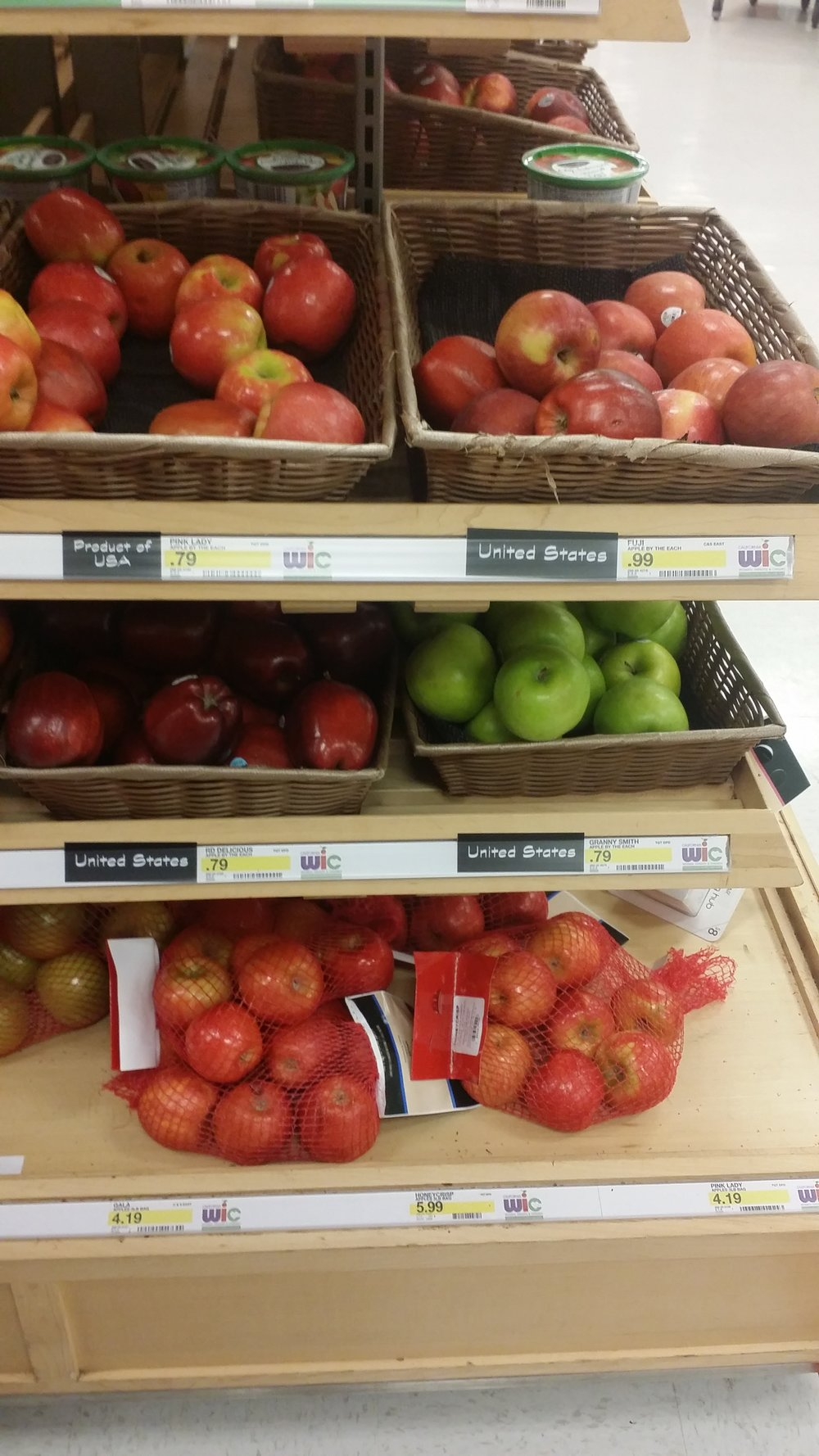 Target had a decent selection of apples.