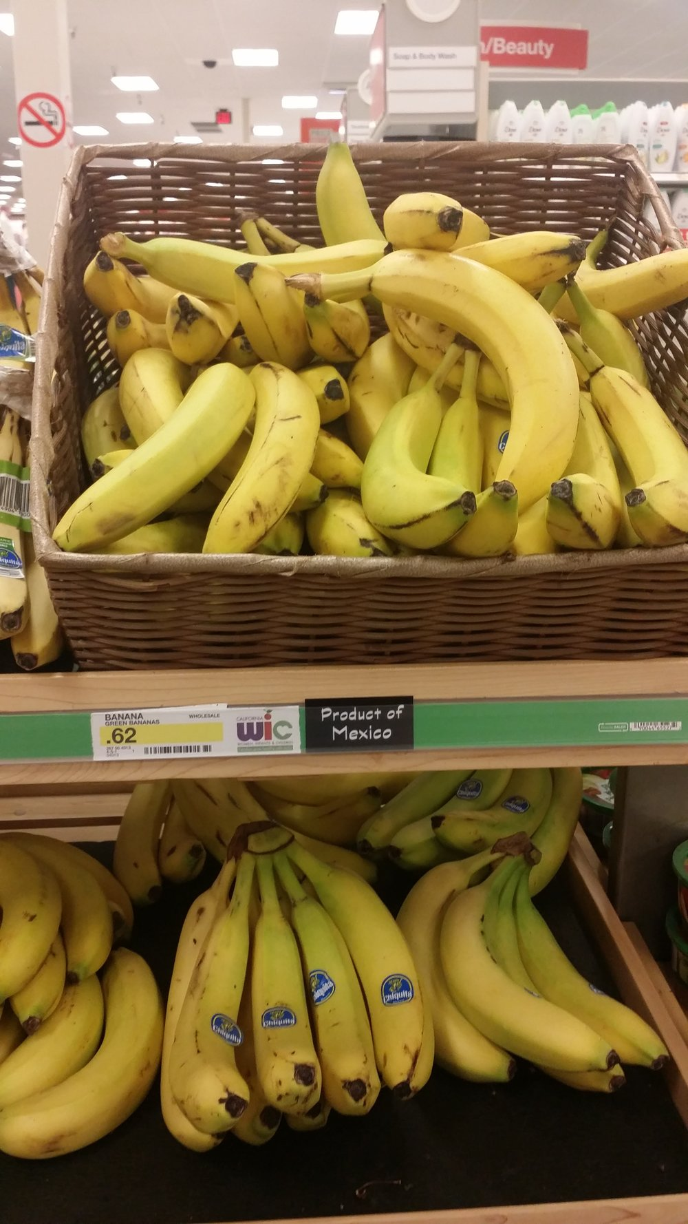 And, they had a basket of lonley bananas.