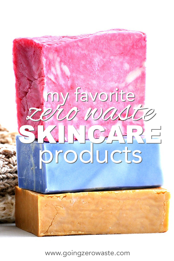 Don't want to DIY your skin care? Learn all about my favorite zero waste skin care products that are green, clean, and packaged sustainably from www.goingzerowaste.com