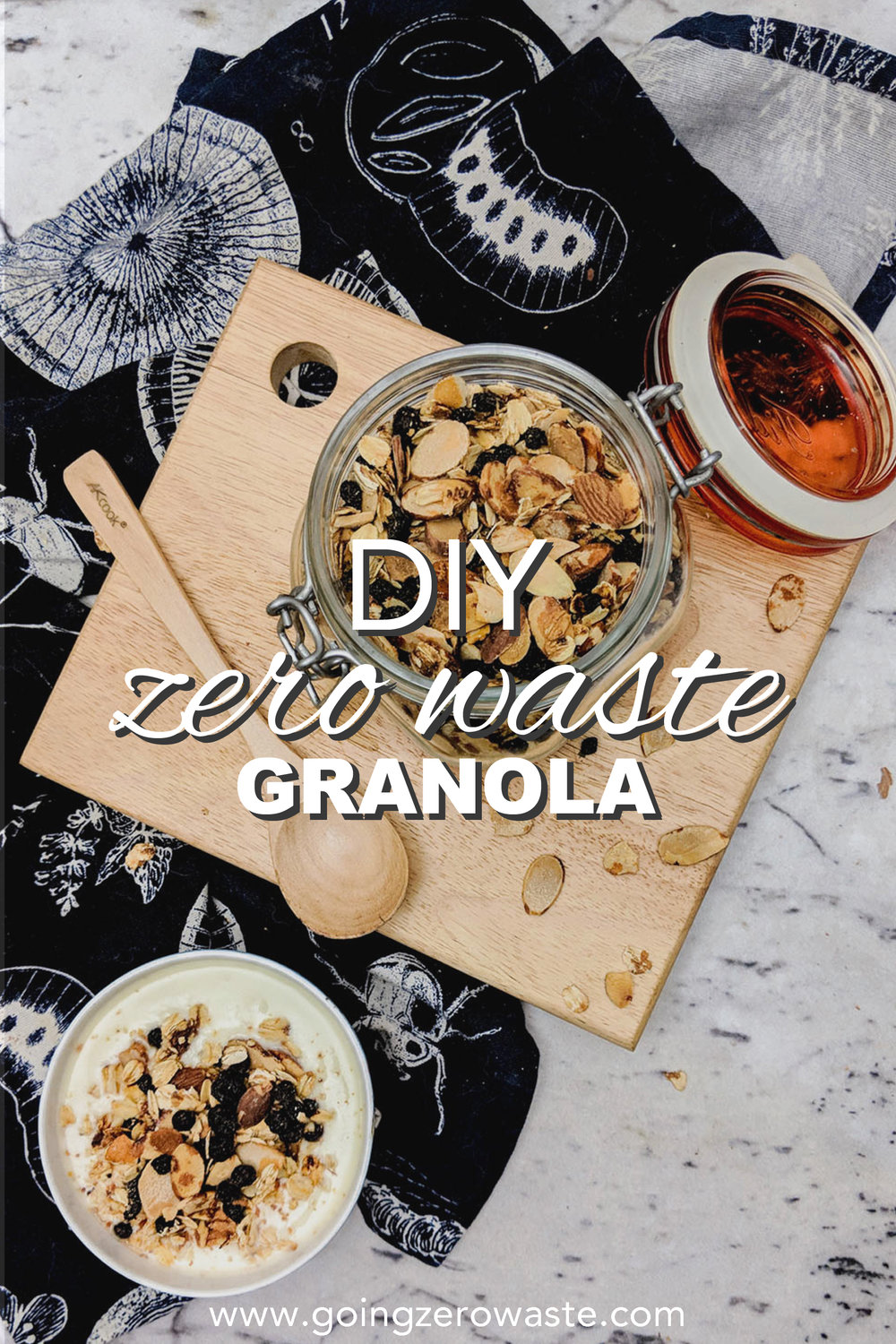 DIY, zero waste granola from www.goingzerowaste.com