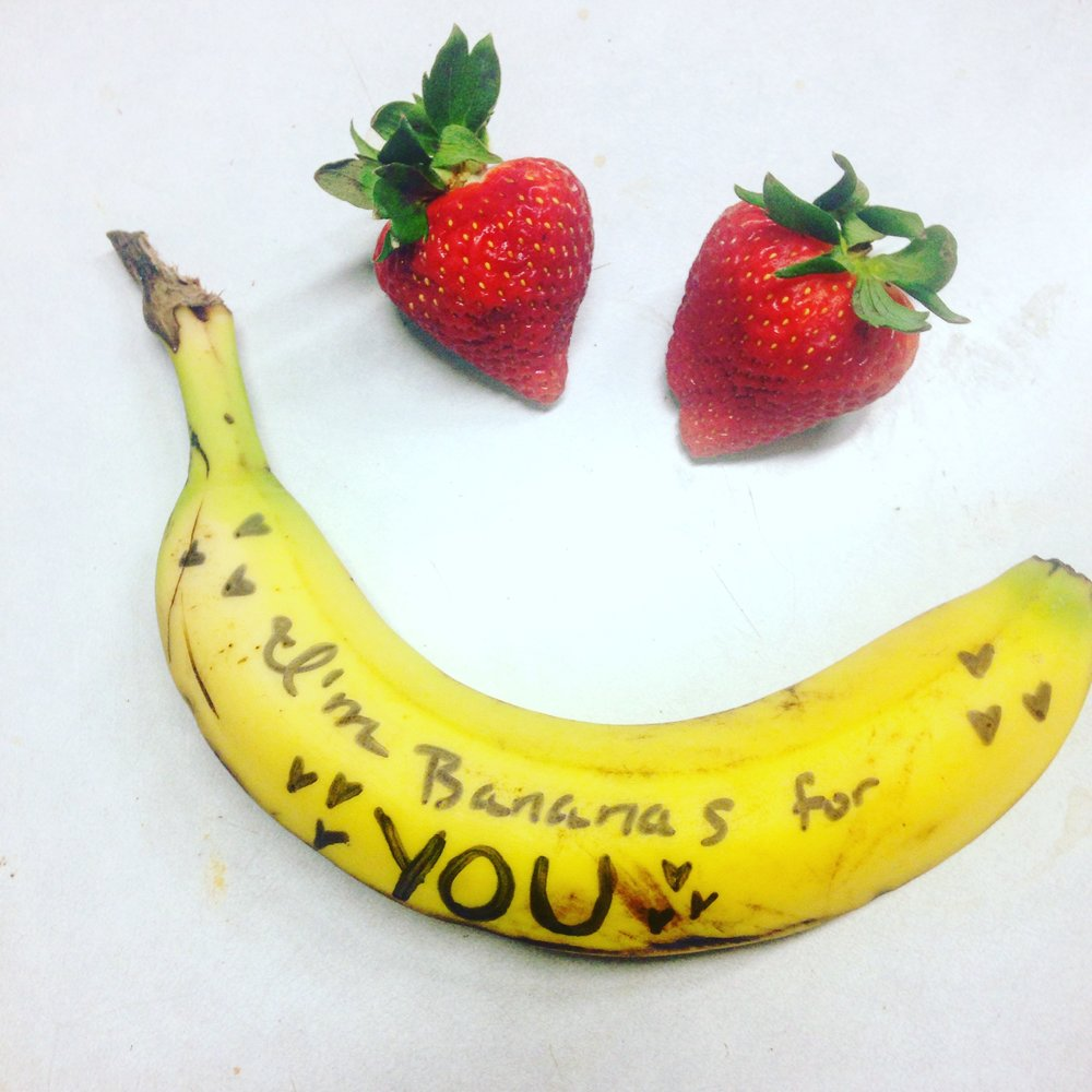 I'm bananas for you a zero waste valentine's idea from www.goingzerowaste.com
