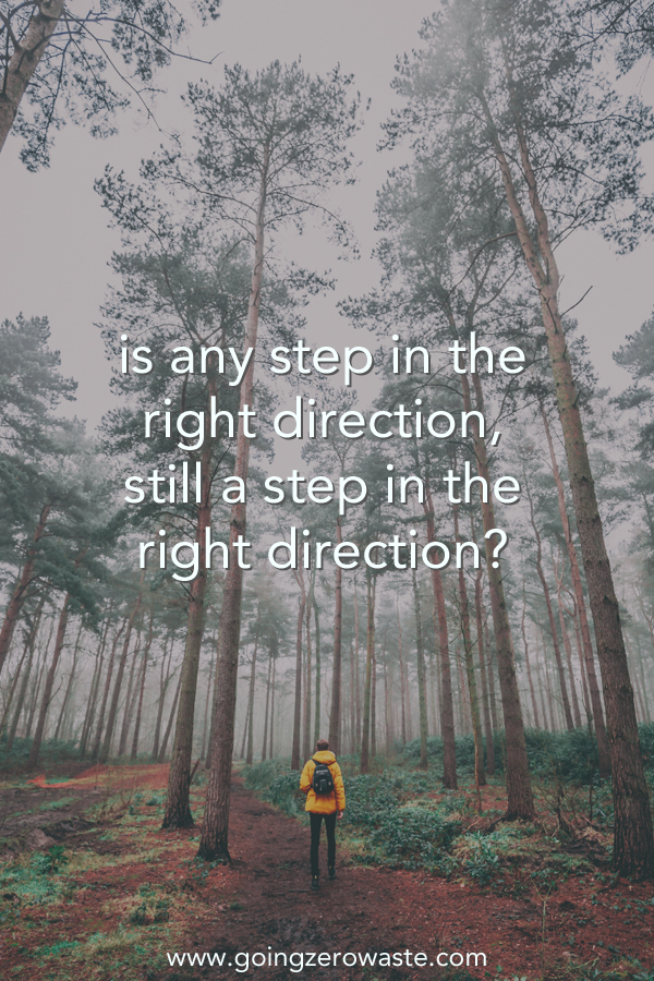 is any step in the right direction still a step in the right direction? from www.goingzerowaste.com