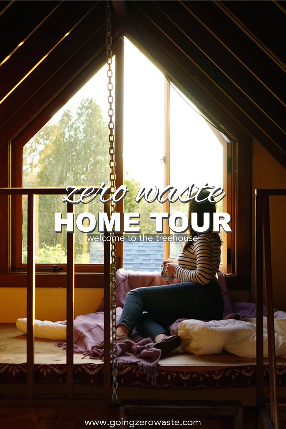 Zero waste home tour - treehouse edition from www.goingzerowaste.com #zerowaste